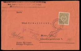 Austrian Bosnia 1918. Registered K.u.K. Cover Normal Stamp Postage Instead  Feldpost Stamp RARITY - Bosnia And Herzegovina