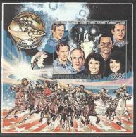 """Centrafrique Bloc YT 87 NON DENTELE """" Hommage Aux Astronautes Challenger """" 1986 Neuf** - Centrafricaine (République)"""
