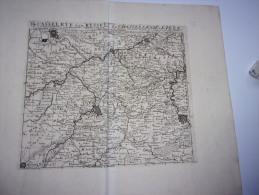 La Chastellenie De Lille Et Environs. - De Casselrye Van Ryssel. Par Abraham Allard 1710 - Mapas Geográficas