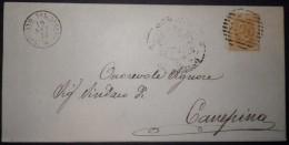 ANNULLI NUMERALI LAZIO: NUMERALE  SORIANO NEL CIMINO - 1861-78 Vittorio Emanuele II