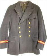 FRANCE 2ème GM - VAREUSE CROISEE CABAN MARINE ENSEIGNE DE VAISSEAU - Uniforms