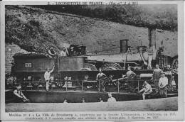 "Locomotives De France, Machine N°4, ""La Ville De Strasbourg"" - Treni"