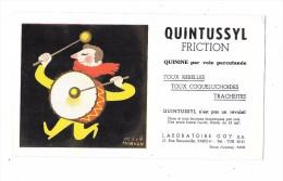 8745 - BUVARD Médical QUINTUSSYL Illustré Par HERVE MORVAN, Tambour - Blotters