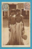 CPA 215 - Nu Féminin Seins Nus - Fillettes Bédouines AFRIQUE DU NORD - Algérie
