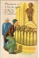 MANNEKEN-PIS- CHANCARD TU TE FOUS DES AGENTS DE POLICE-humour-folklore Belge - Humor