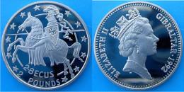 GIBRALTAR 2,8 E 1992 KU-NI 2 POUNDS ELIZABETH II HORSE WARRIOR CONSERVAZIONE FDC UNC. - Gibilterra