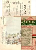 MAPPA  CARTA D ITALIA PISA 1907TOURING CLUB ITALIANO - CARTINA CON INDICE - Geographical Maps
