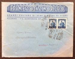 FLORICOLTURA GIARDINAGGIO  -FRANCESCO CASCINO PULEO SEMI E BULBI DI FIORI - PALERMO  1948 - Pubblicitari