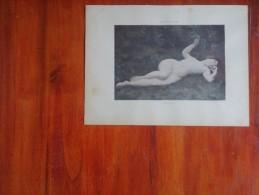 ALBERT FOURIE  FILLE D`EVE    LAMINA TAMAÑO 32 X 23 CM EROTICA   DESNUDOS AÑO 1940 ORIGINAL UNICA RARE  OHL - Dessins