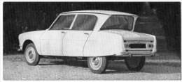 Automobiles Rétros. Photo De Voiture Ancienne. La Citroën Ami 6. Verso : Caractéristiques Techniques De La Voiture. - Cars