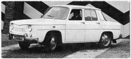 Automobiles Rétros. Photo De Voiture Ancienne. La Renault R8. Verso : Caractéristiques Techniques De La Voiture. - Voitures