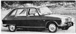 Automobiles Rétros. Photo De Voiture Ancienne. La Renault R16. Verso : Caractéristiques Techniques De La Voiture. - Voitures