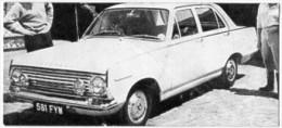 Automobiles Rétros. Photo De Voiture Ancienne. La Vauxhall Victor. Verso : Caractéristiques Techniques De La Voiture. - Voitures