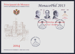 """2013 MONACO """"MONACOPHIL 2013"""" FOGLIETTO FDC - FDC"""