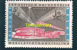 CPSM EXPOSITION UNIVERSELLE DE BRUXELLES 1958 PAVILLON DE TELEXPO - Expositions