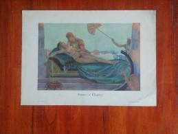 ANTOINE ET CLEOPATRE PAR JACQUE LECLERC  EROS FEVRER 1930    LAMINA TAMAÑO 37 X 27 CM  EROTICA   DESNUDOS   OHL - Dessins