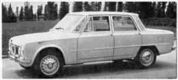 Automobiles Rétros. Photo De Voiture Ancienne. Alpha Romeo Giulia TI. Verso : Caractéristiques Techniques De La Voiture. - Voitures