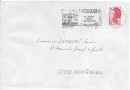 VERTUS 1984 Flamme Au Coeur De La Champagne Raisin Vin Vignoble Viticulture - Marcophilie (Lettres)