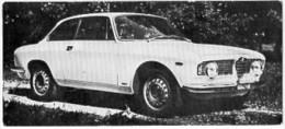 Automobiles Rétros. Photo De Voiture Ancienne. Alfa Romeo Giulia Sprint GT : Caractéristiques Techniques De La Voiture. - Voitures