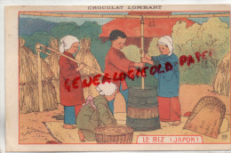 CHROMOS - CHROMO CHOCOLAT LOMBART - LE RIZ JAPON - Lombart