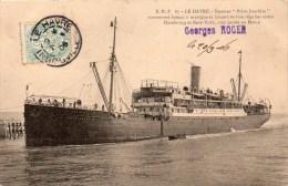 """LE HAVRE: Steamer """"Prinz Joachim"""" Surnomé Bateau à Musique Et Faisant Service Régulier Entre HAMBOURG Et NEW-YORK - Le Havre"""