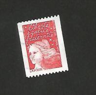 N° 3084d  3084  Marianne De Luquet TVP (3 F) Rouge Pour Roulette Type II Oreille Cassée  TIMBRE Oblitéré France 1997 - Frankreich