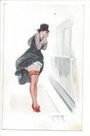 13896- L. Peltier Le Mauvais Temps Indiscret Femme   Série N° 8- 39 - Other Illustrators