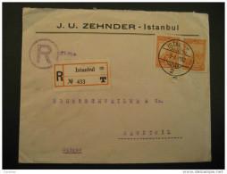 Istanbul 1932 To Hauptwil Switzerland Suisse Turkey Registered Cover - 1921-... République