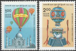 """INDIEN 969-70 """"200 Jahre Luftfahrt"""" MNH / ** / Postfrisch - Ungebraucht"""