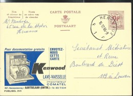 Publibel Obl. N° 2141 ( Lave-vaiselle KENWOOD) Obl: Herseaux 16/12/1966 - Entiers Postaux