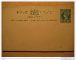 GIBRALTAR 5 Centimos Post Card Entero Postal Stationery British Colonies Colony GB UK España Spain Peñon - Gibraltar