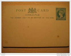 GIBRALTAR Half Penny Post Card Stationery British Colonies GB UK Colony España Spain Peñon - Gibraltar