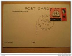 GIBRALTAR 1967 Barco Ship HMS Victory FDC SPD Post Card Maxi Maximum Peñon Rock UK GB British Colonies Spain - Gibraltar