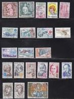 FRANCE 1979  à 1981      OBLITERES  A 15% DU PRIX  CATALOGUE  YVERT - Collections (sans Albums)
