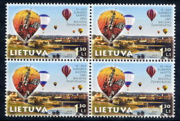LITHUANIA 2003 Hot-air Balloon Championships Block Of 4  MNH / **.  Michel 826 - Lithuania
