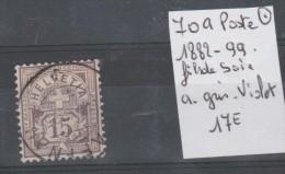 TIMBRE DE SUISSE  OBLITEREES Nr 70a FILS DE SOIE A GRIS-VIOLET  ANNEE 1882-99 COTE 17€ - Oblitérés
