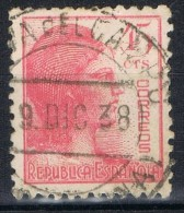 Sello 45 Cts Republica, Fechador MEDINA Del CAMPO (Valladolid), Num  752 º - 1931-50 Usati