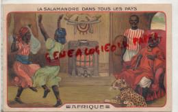 AFRIQUE - CHROMOS - CHROMO LA SALAMANDRE EN AFRIQUE - DANSE  DANSEUR GUEPARD - Lombart