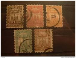 Kobenhavs Copenhague Local Stamps Stadpost Bypost Telegram Fr 1 2 3 4 & 5 Ore Set Denmark - Autres