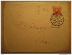 Kjobenhavn 1909 To Odder Cancel Cover 1 Stamp Denmark - Lettres & Documents
