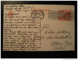 Kobenhavn 1937 To Altona Germany Dolmen Menhir Prehistory Archeology Postal Stationery Card Denmark - Covers & Documents
