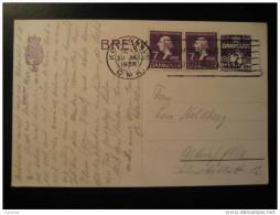 Kobenhavn 1936 To Altona Germany 2 Stamp On Postal Stationery Card Denmark - Lettres & Documents