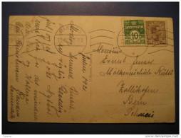 Randers 1921 To Bern Switzerland 2 Stamp On Glaedelig Jul Post Card Denmark - Lettres & Documents