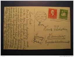 Nykobing 1936 To Hannover Germany 2 Stamp On Ostseebad Brunshaupten Saisoneroffnung Post Card Denmark - Lettres & Documents