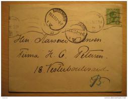 Kjobenhavn 1918 Cancel Cover 1 Stamp Denmark - Lettres & Documents