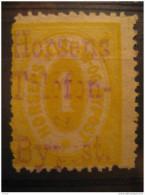 Horsens 1 Telefon Bypost Gross Number + Overprinted Telephone Phone Local Poster Stamp Label Vignette Viñeta Denmark - Emissions Locales