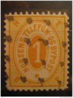 Horsens 1 Telefon Bypost Fine Number Telephone Phone Local Poster Stamp Label Vignette Viñeta Denmark - Emissions Locales