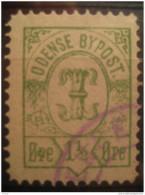 Odense 1 1/2 Ore Bypost Local Poster Stamp Label Vignette Viñeta Denmark - Emissions Locales