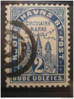 Kobenhavn 2 Ore Circulaire Maerke By Post Bude Udleies Local Poster Stamp Label Vignette Viñeta Denmark - Emissions Locales