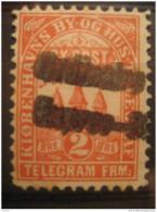 Kobenhavn 2 Ore Telegramme Telegram By Post By Og Hus Telegraf Local Poster Stamp Label Vignette Viñeta Denmark - Emissions Locales